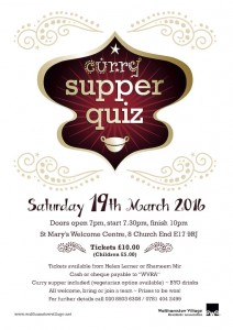 Curry Supper Quiz Poster 2016