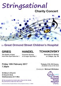 Stringsational Charity Concert : Great Ormond Street Children's Hospital @ St Marys Church | England | United Kingdom