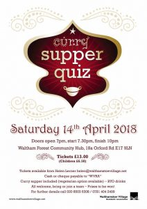 Curry Supper Quiz @ WF Community Hub (old Asian Centre) | England | United Kingdom